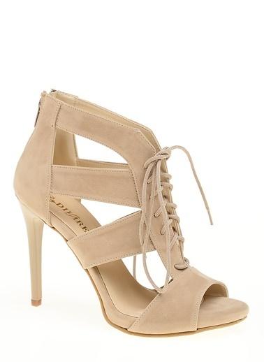 D by Divarese İnce Topuklu Ayakkabı Taş